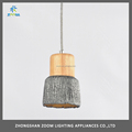 Modern E27 concrete pendant lamp for loft decoration