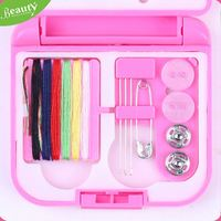 Travel sewing kit set ,h0twD plastic folding compact sewing box for sale