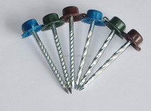 screw nails with color plastic cap /roofing nails with color plastic cap