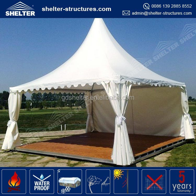 Factory price 650g/sqm PVC coated fabric side wall cover canopy outdoor garden tent garden pavilion kiosk tent canopies