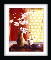 2014 latest design vase finished diamond oil painting by number foe poster printing