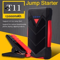 New Car Battery Jump Starter 12000mAh 400A Peak Two USB Multi-function Power Bank Charger for Mobile Phones