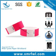 Disposable HF13.56MHZ nfc wristband for amusement park