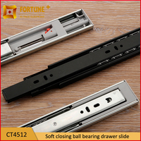 Soft close ball bearing wooden drawer track guide