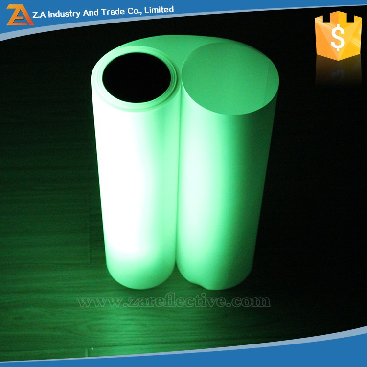 Rolls Screen Printing Photoluminescent/Luminous Film for Safety Signs Glow In The Dark Paper