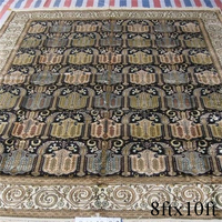 Chinese hand knotted pure silk carpet and rugs