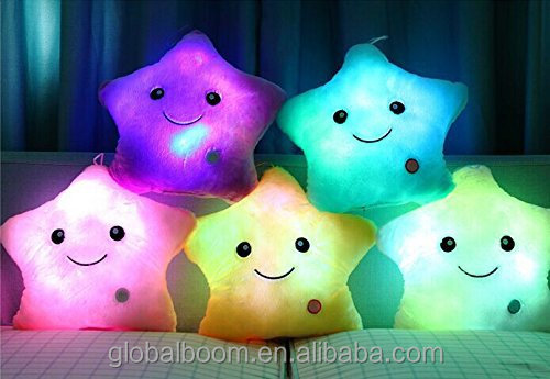 Star LED Night Light Plush Pillow Stuffed Toys