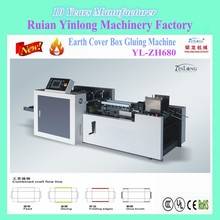 Paper Boxes Gluing Machine, Earth Cover Box Gluing Machine YL-ZH680 with PLC programming control