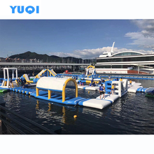 New Product PVC Tarpaulin Strong D- Rings Inflatable Floating Water Park For Adult