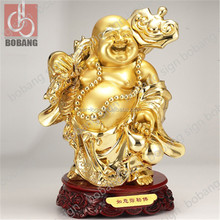 Luxury Character Shape resin plated buddha statue / polyresin plated gold buddha statue