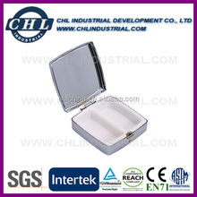 Promotion lockable metal mirror pill box