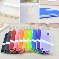 transparent matt soft tpu case with holder for samsung galaxy note 3