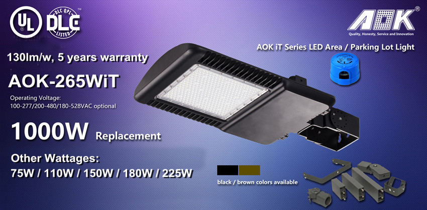 LED Industrial Light High Power IP66 LED Lights Parking Lot 1000W