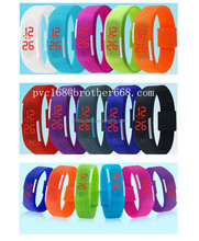 Ultra Thin Outdoor Sports Silicone Waterproof Digital Gym Running LED Adjustable Wrist Watch