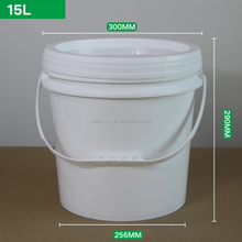 Food grade latex paint with handle plastic bucket 15 liter