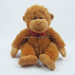 2016 nanjing manufacturer hot sale good quality brown monkey toys Cute soft plush toy