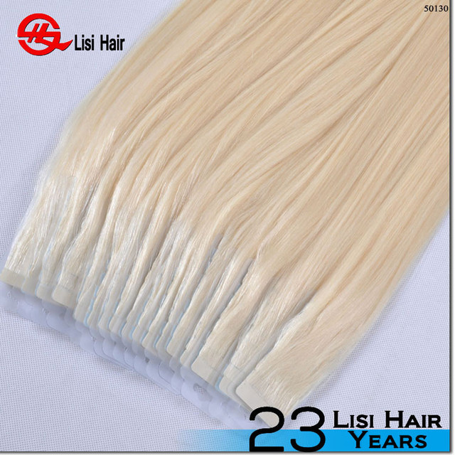 tread assurance remy softy full cuticle super sticker 4*1cm tape hair extension for caucasian