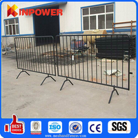 Steel Crowd Control Barrier with Removable Feet / Plastic Traffic Barrier / Plastic Road Safety Barrier