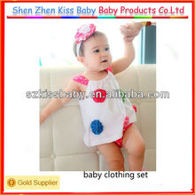 2 pcs cheap newborn baby clothing set 2013 in stock
