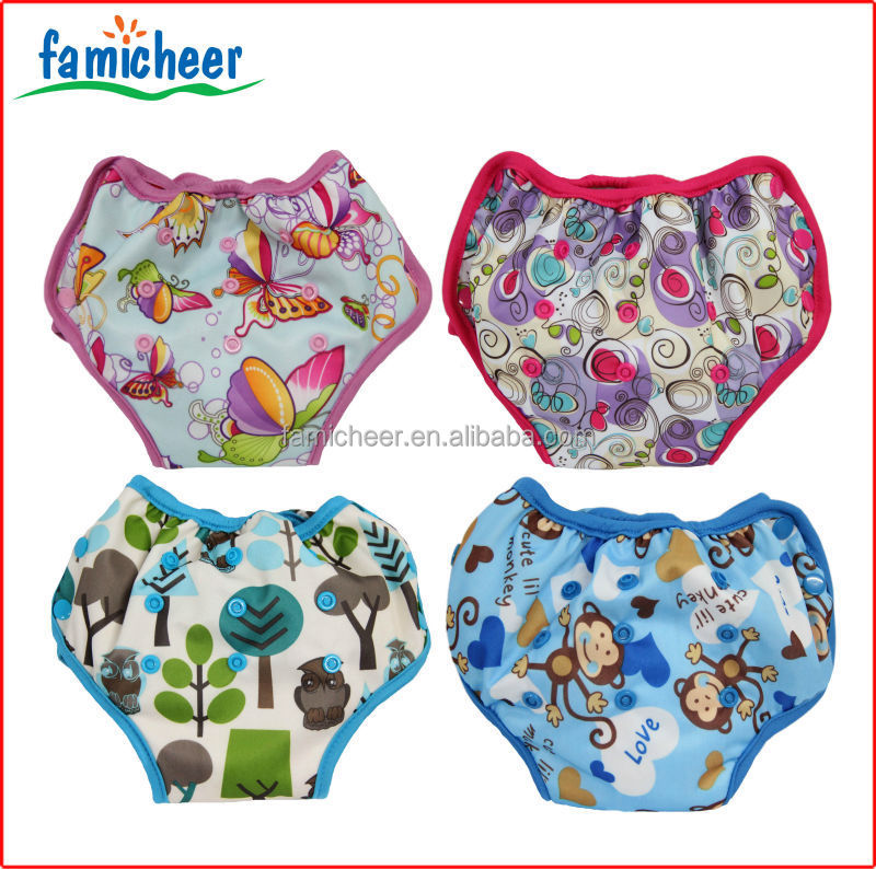 Famicheer Bamboo One Size Side Snap Potty Toddler Training Diapers