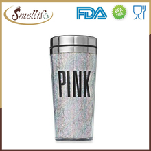 Hot Sale stainless Steel Glitter Tumbler with Paper Photo Insert