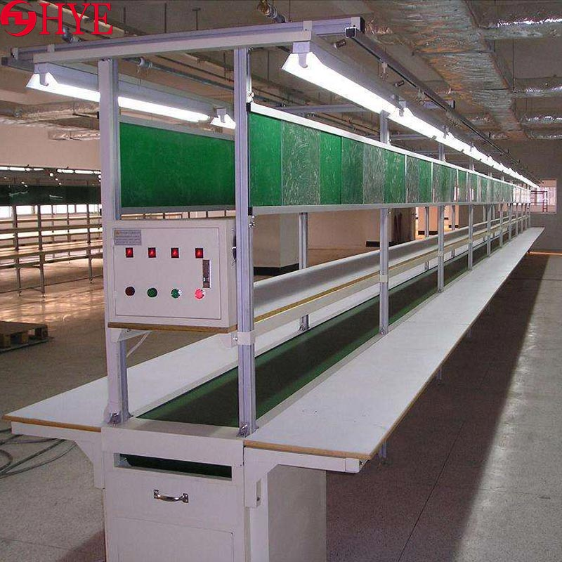 Belt conveyor line - factory workshop anti-static packaging <strong>production</strong> line