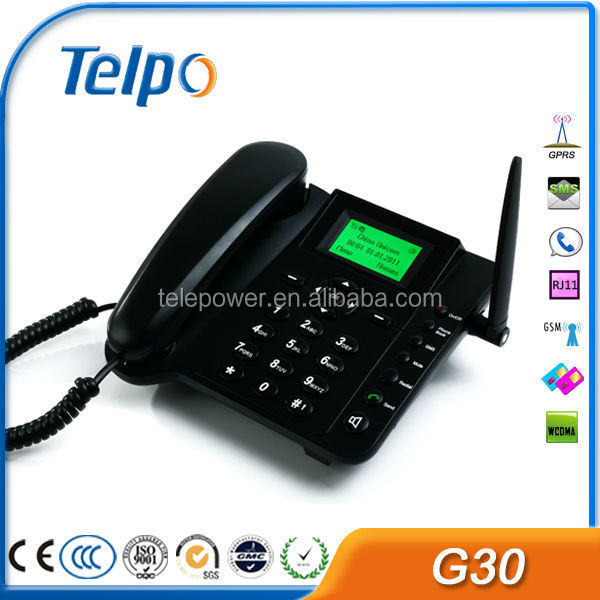 Telepower G30 Fixed Phones with SIM Cards, Dual SIM GSM Desktop Mobile Phone