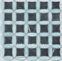 Irregular Building Material Glass Mosaic tile, wall decoration for bathroom, bedroom, hotel