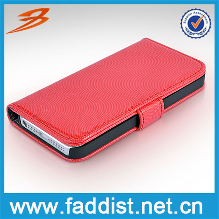 2014 Hot selling card holder smart phone case for iphone 5 with wallet