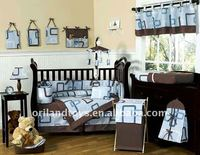 animal crib sheet bedding cot set 8pc Nursery boy girl infant toddler baby crib bedding