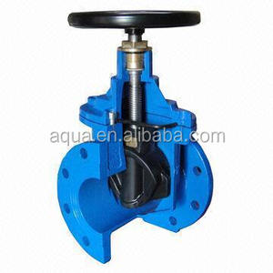DIN resilient seated non-rising stem DIN3202 F4 wedge flanged gate valve