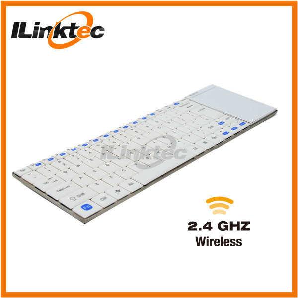 10inch Ultra slim White wireless keyboard with touchpad for laptop PC