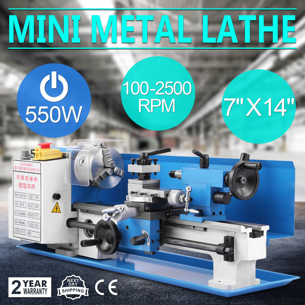 Mini high-Precision DIY Shop Benchtop Metal Lathe Machine with Variable Speed Milling Digital Display