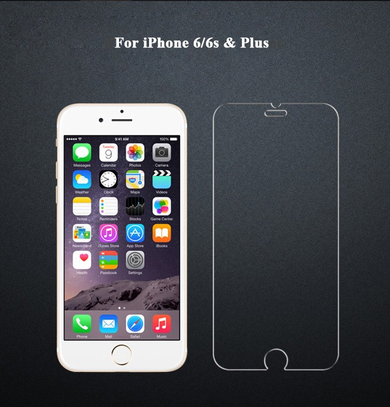 Mobile Phone Protective Film 2.5D 9H Hardness Tempered Glass Film Screen Protector For iPhone 6 plus 6s