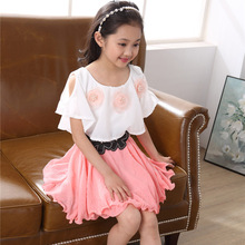 OEM ready made kids chiffon <strong>dress</strong> made in China wholesale <strong>girl's</strong> <strong>dress</strong>