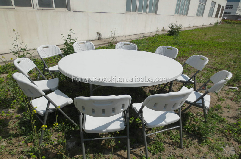 outdoor household furniture from China/round table in cheap price 5ft 60'' size/hot sale in American round plastic folding table
