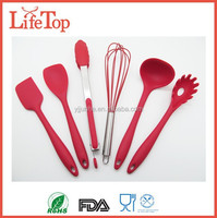 Hot Hell 6 piece Silicone Home Red Kitchen Utensils