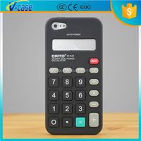 Black classical style 3D calculator soft silicone cover case for iPhone 5S 6