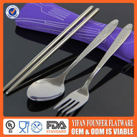 Spoon and fork wedding gift, promotional stainless spoon&fork set