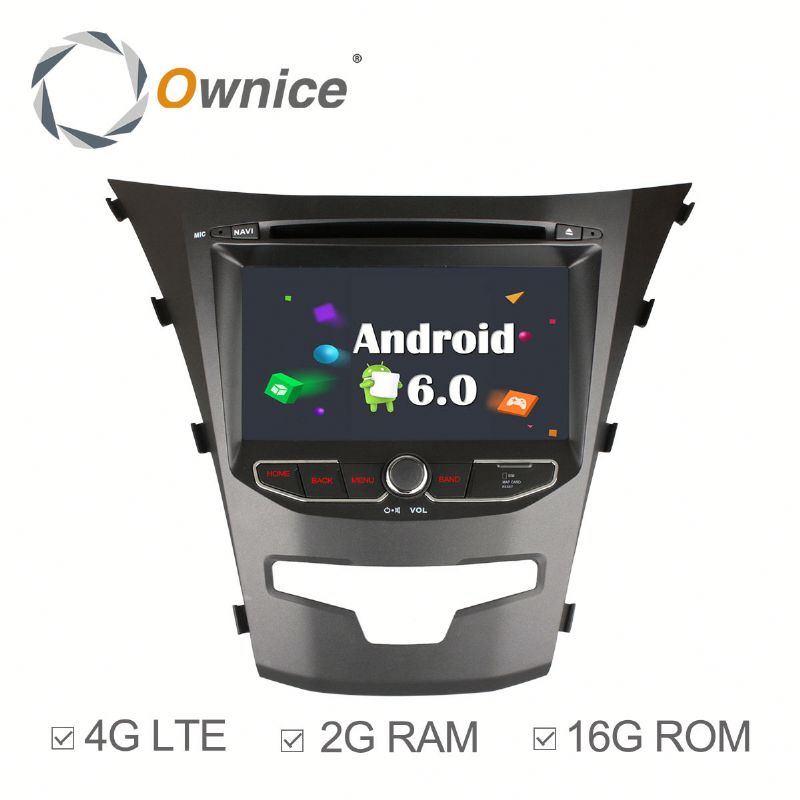 Octa core Android 6.0 Ownice C500 car gps navigation system for ssangyong korando support OBD DAB TPMS Built in 4G LTE