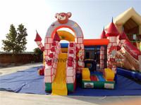 Commercial 0.5mm PVC Fire-retardant & Waterproof Inflatable Castle Slide For Sale
