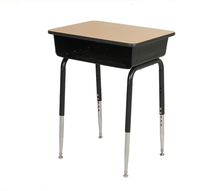 Adjustable single wood student desk school comfortable high school desk
