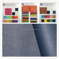 Embossed Thermo PU material of book cover leather with non-woven backing