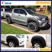 ABS plastic hilux fender flares for toyota revo 2016 4x4 Big Type textured black hilux revo 4wd Wheel Arch Flares