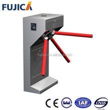 Smart card reader tripod turnstile visitor access control gate system