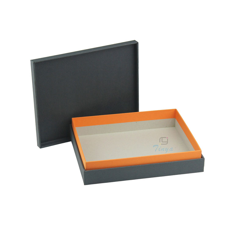 Top and bottom matte black shoe box