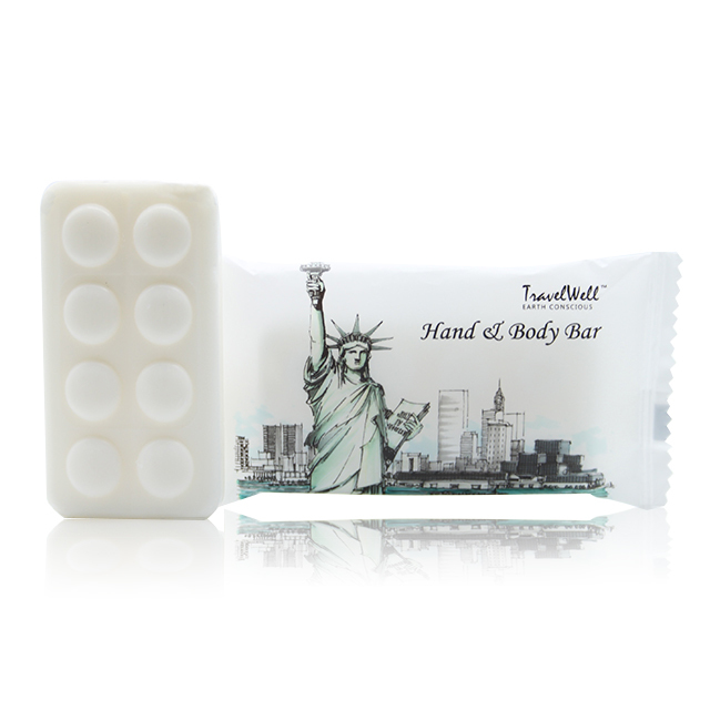 Travel Well Face And Body Bar Travel Amenities Hotel Toiletries in Plasitic Bag(Hotel Size 28g,400Pack) by Eco-Amenities