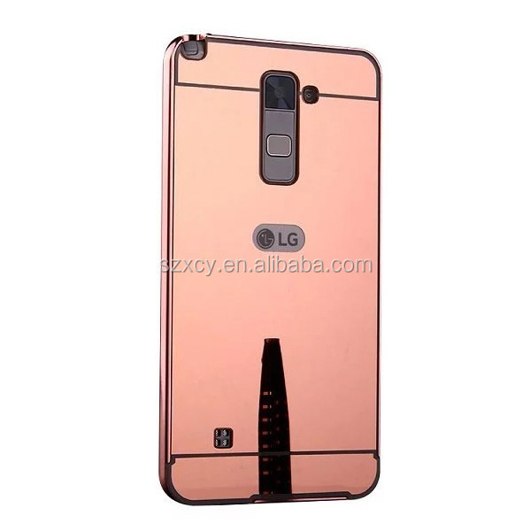 metal plastic mobile phone cases for LG stylus 2 with stand function from china manufacturer