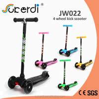 Best quality CE certificated aluminum 4 wheel kids pedal kick scooter