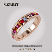14k fashion ruby emerald turkish finger gold ring for women